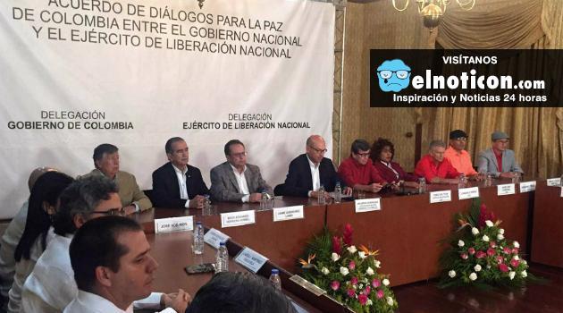 El 27 de octubre se iniciarán la fase pública de los diálogos de paz entre el Gobierno y el ELN