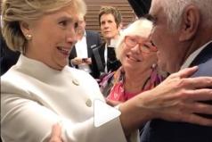 Así fue el esperado encuentro entre Hillary Clinton y Vicente Fernández