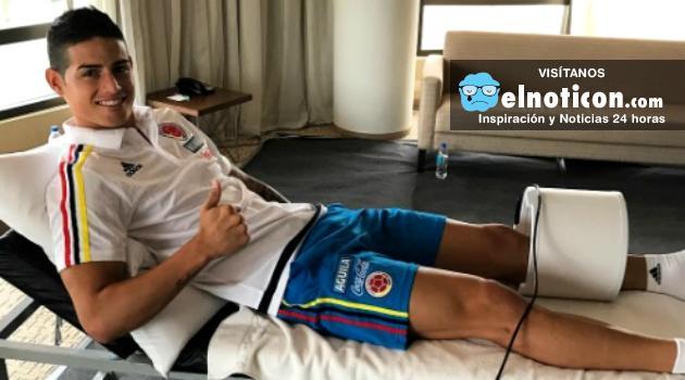 James Rodríguez no se recuperó y no podrá jugar ante Uruguay