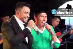 Nairo Quintana deja la bicicleta por unos minutos para cantar con Jhon Alex Castaño