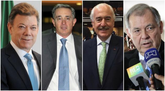Hoy es la reunión clave entre Santos, Uribe, Pastrana y Ordonez en la Casa de Narino