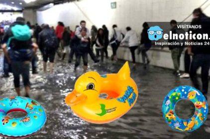 Además de sombrilla, ahora hay que llevar un flotador para ingresar a TransMilenio