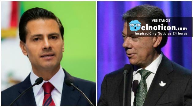 Presidente de México, Enrique Pena Nieto visita Colombia