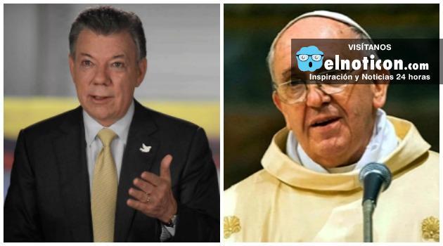 Juan Manuel Santos se reunirá con el papa Francisco en diciembre