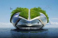 Un barco del futuro con un diseño inspirado en los anfibios