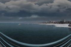 Mira en 360° (gira la imagen) el sorprendente efecto del cambio climático en una playa de Santa Mónica