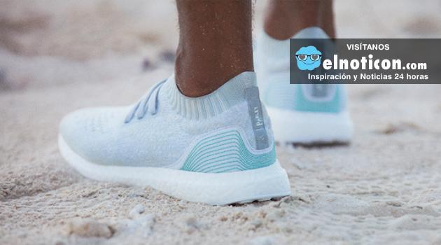 Adidas fabrica y vende zapatillas hechas con plásticos recolectados del océano