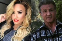 Demi Lovato golpea a Sylvester Stallone