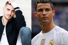 Maluma pone a entrenar a Cristiano Ronaldo, ¡gran ejercicio!