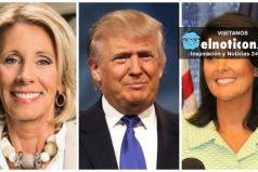 Trump elige por el momento a dos mujeres en su gabinete presidencial