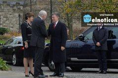 Presidente Santos está en Irlanda del Norte para conocer detalles del proceso de paz de este país