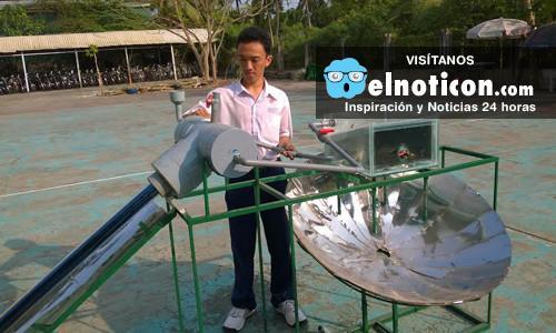 El joven que inventó una máquina que transforma el agua salada de mar en dulce y es apta para el consumo