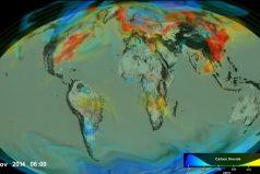 ¡Nuestro planeta se afixia! La NASA elaboró un modelo de cómo se comporta el dióxido de carbono en la atmósfera