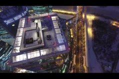 Conoce la pista de hielo más alta del mundo: queda en el Oko Tower de Moscú. ¡Te dejará frío de tanto vértigo!