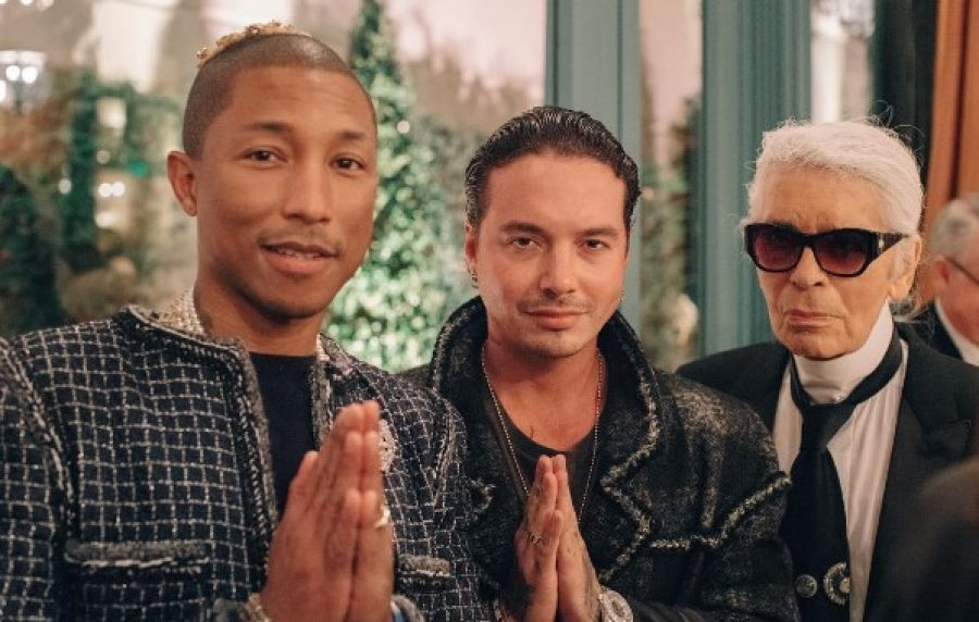 J Balvin junto a Pharell Williams y Karl Lagerfeld, ¿vendrá algún proyecto con Channel?