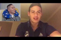 ¡Qué gesto tan bello! James Rodríguez envió un animador mensaje a su 'tocayo', un joven patrullero que quedó cuadripléjico en un partido de fútbol. ¡Los dos son unos campeones!
