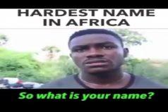 ¿Cómo dice que se llama? A que no eres capaz de aprenderte el nombre de este hombre de Kenia. ¡Es todo un trabalenguas!