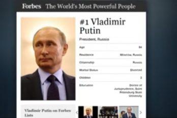 """Forbes elige a Putin por cuarto año como la persona más poderosa: """"Sigue logrando lo que se propone"""""""