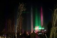Conoce los pilares de luz de Xilin Gol (China): un espectacular fenómeno causado por las bajas temperaturas. ¡Sin duda, la mejor decoración de fin de año!