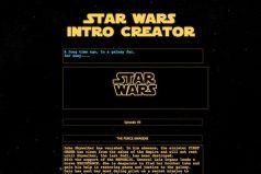 Una web para personalizar la famosa introducción de Star Wars con tu propio texto