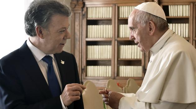 La reunión de Santos y Uribe con el Papa Francisco