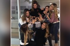 Carolina Cruz celebró su embarazo en compañía de sus amigas