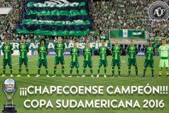 Conmebol declara a Chapecoense campeón oficial de la Suramericana 2016