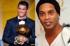 Elogiar a Cristiano le sale 'caro' a Ronaldinho