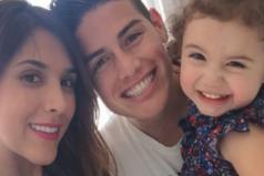 James Rodríguez le enseña a jugar fútbol a su hija Salomé