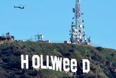 'Hollyweed': así alteraron letrero de 'Hollywood' para celebrar legalización de la marihuana