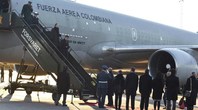 Juan Manuel Santos ya está en Oslo para recibir el Premio Nobel de Paz