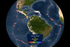 Literalmente… ¡Impactante! Este video muestra todos los terremotos que sacudieron a la Tierra de 2001 a 2015. ¿Cuántos recuerdas?