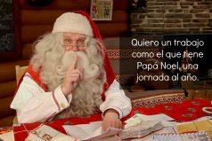 Quiero un trabajo como el de Papá Noel