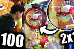 ¿Cuántos intentos necesitas para ganar en una máquina de peluches? Este youtuber probó 100 veces y gastó US$25. ¿Cuántos conseguiría?