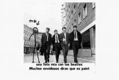 Una foto mía con los Beatles…