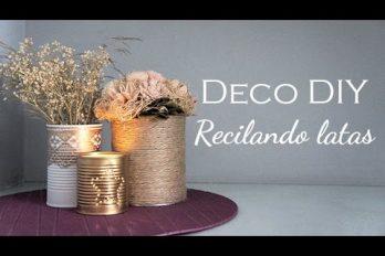 Así decoras tu casa mientras reciclas: ideas para transformar latas en  floreros y portavelas. ¡Qué hermoso resultado!