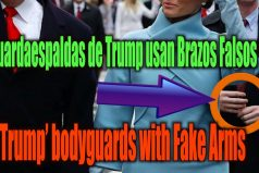 ¡Qué extraño! Los brazos falsos del guardaespaldas de Donald Trump. Claro, te sientes más seguro si te cuida un maniquí