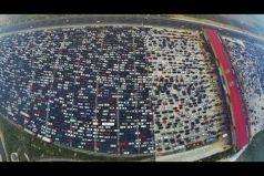 ¡Impresionante! Atasco en los 50 carriles de la autopista G4 de China. ¡No volverás a quejarte del trancón!