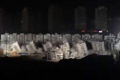 Demolición de 19 edificios en 10 segundos en China