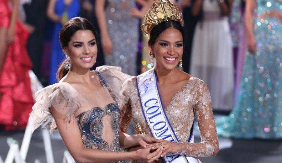 La reina de Colombia le enseñó a las participantes asiáticas a hablar español, ¡que lindo!