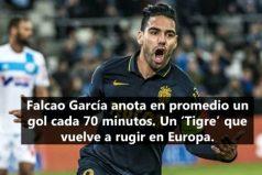 Falcao García, el mejor delantero colombiano en Europa