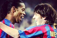 """El emotivo mensaje de Ronaldinho a Messi, """"Juega con alegría, juega libre. Simplemente juega con el balón."""""""