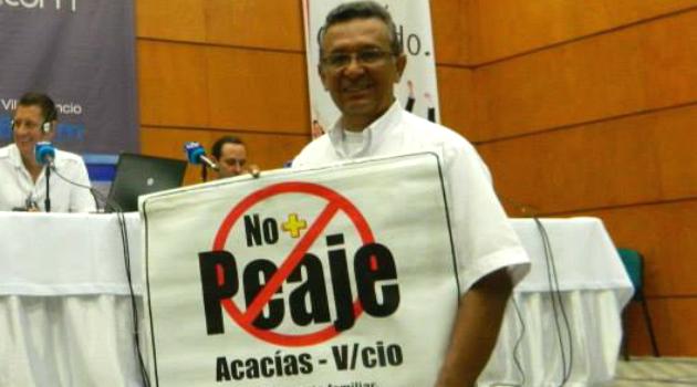 Este hombre se negó a pagar un peaje en la vía Acacias – Villavicencio como forma de protesta