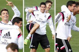 James Rodríguez corre con la nueva bestia de Cristiano Ronaldo, ¡gran carro!