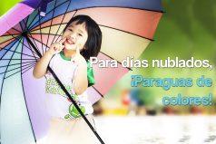 Para días nublados, ¡paraguas de colores!