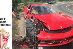 ¡No, nooo, nooooo! Joven capta el doloroso momento en el que estrella un Ferrari 458 Italia de 300 mil dólares