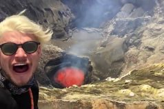 ¡Sencillamente alucinante! Excursionistas se encuentran con un volcán a punto de hacer erupción. ¿Tú qué habrías hecho?