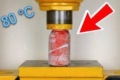 ¿Cuánto peso soporta una Coca Cola congelada? Averígualo en 'El show de la aplastadora'. ¡Vaya experimento!