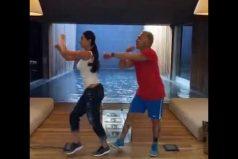 El multimillonario Gianluca Vacchi y su esposa sorprenden con su coreografía de 'La bicicleta'. ¡El final te dejará frío!