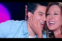 """El sorpresivo beso de 'Pipe' Bueno y Amparo Grisales en 'Yo me llamo'. """"¡Me ericé!"""""""